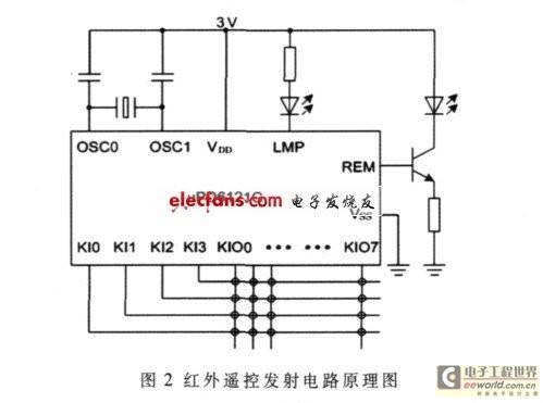 红外遥控发射电路原理图