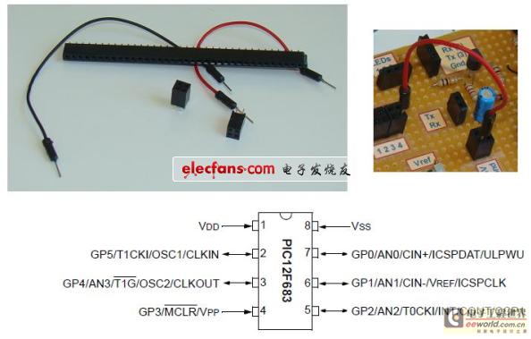PIC12F683微控制器实验板