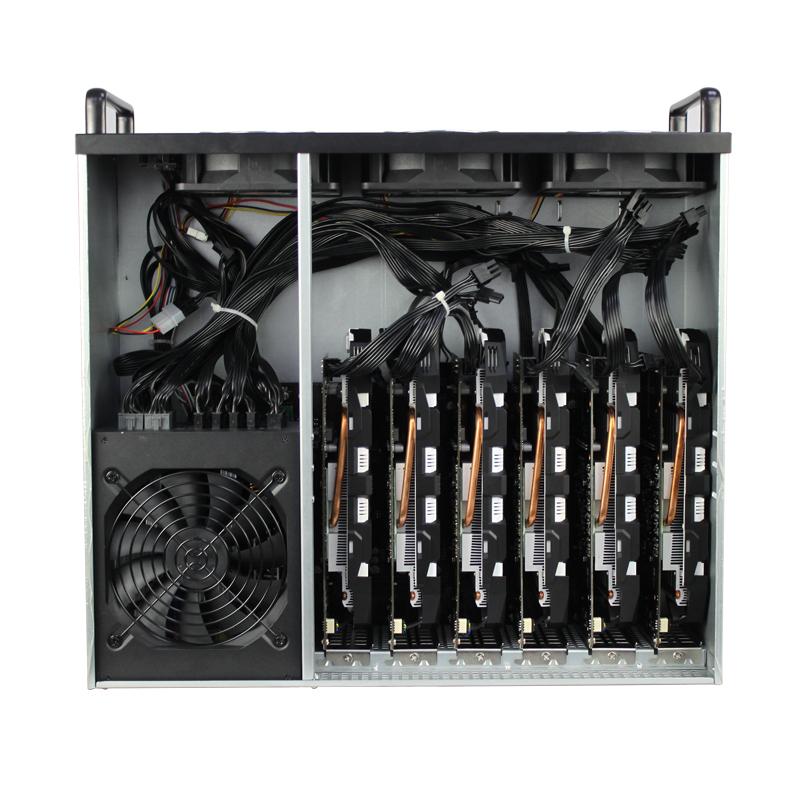 昂达D1800 BTC专用机箱 无转接卡以太坊挖矿机箱