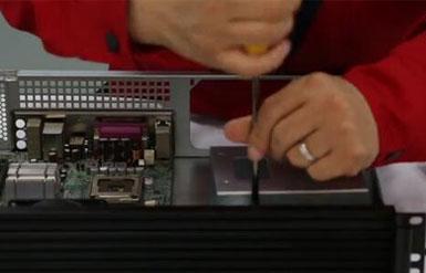 1U-K125L工控服务器机箱安装解说