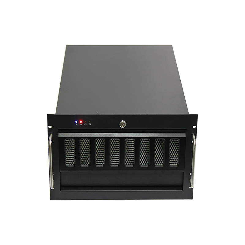 Macase 6U Server Chassis / Server Case / Rackmount Case, Metal Rack Mount Computer Case with 6 Bays & Fans Pre-Installed