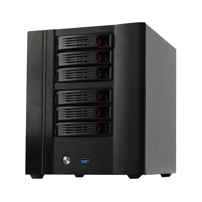 Hot swap 6 bays Desktop NAS server case nas computer case with USB 3.0 fits mini ITX Applied in Office