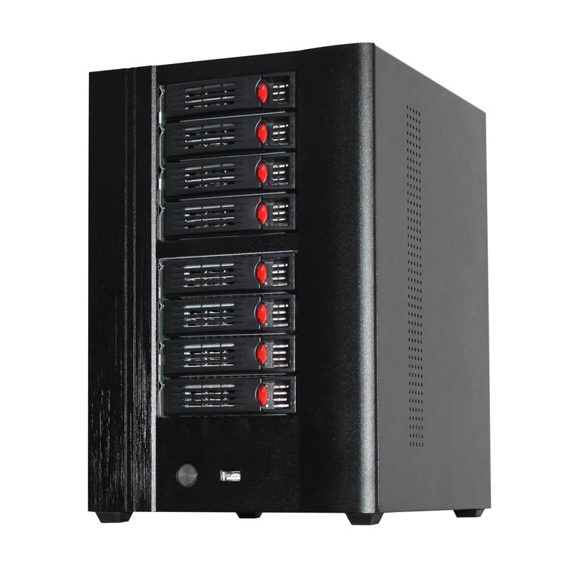 NAS网络存储,8个热插拔硬盘位