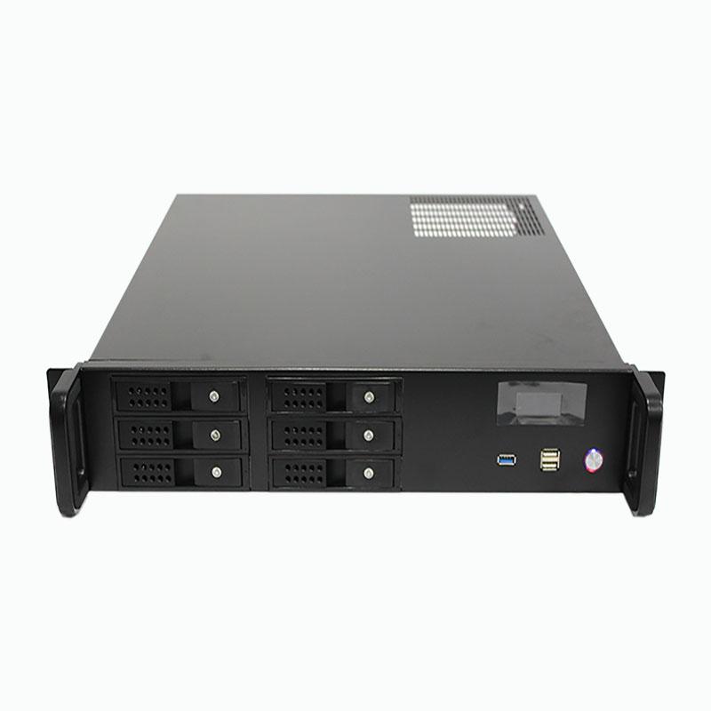 2U机箱480MM深,6个热插拔硬盘位