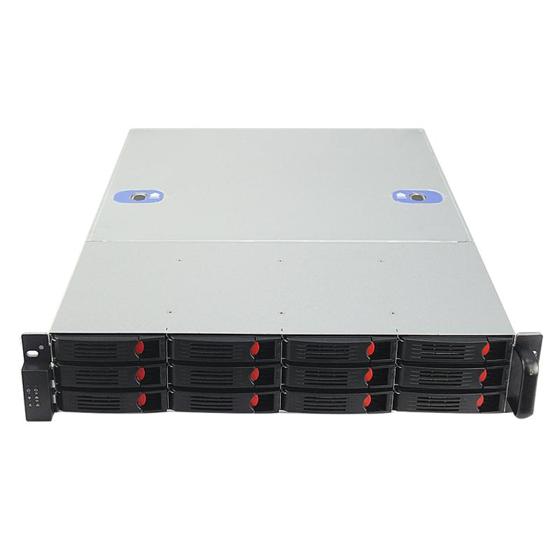 2U机箱550MM深,12个热插拔硬盘