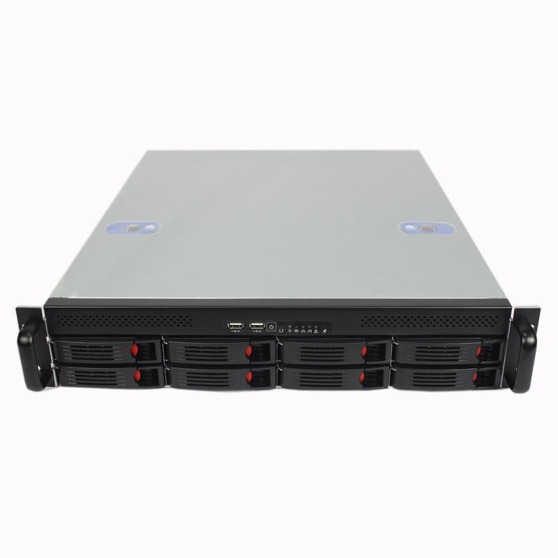 2U机箱550MM深,8个热插拔硬盘位